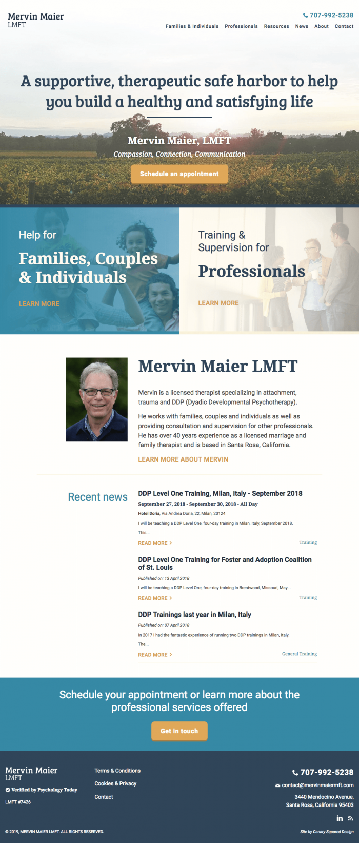 Mervin Maier LMFT - Psychotherapy and DDP, California