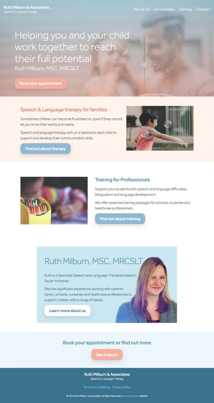 Ruth Milburn Speech and Language Therapist South Yorkshire